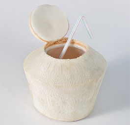 Diamond Cut Fresh Coconut