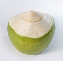 Green Cut Coconut - Fresh Coconut